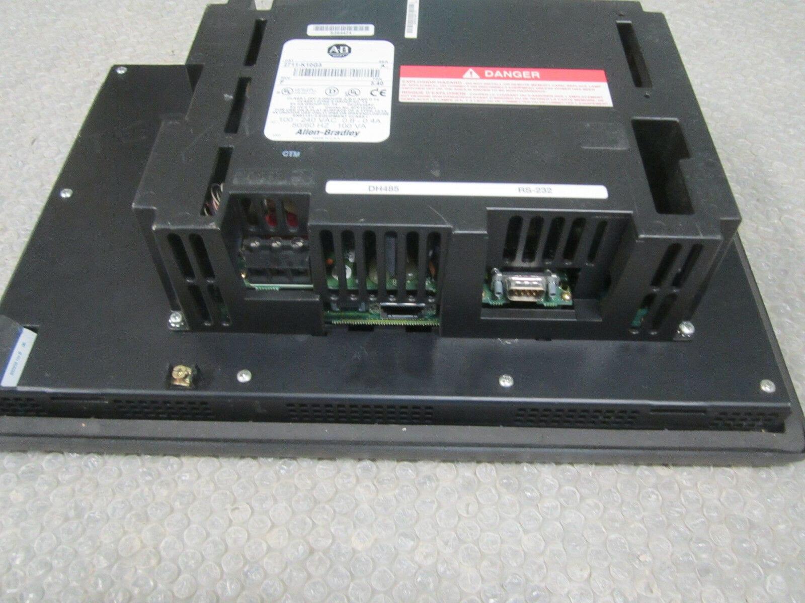 Allen Bradley 2711-K10G3 Panelview 1000 Display Ser A REV  F FRN 3 40  *Tested*