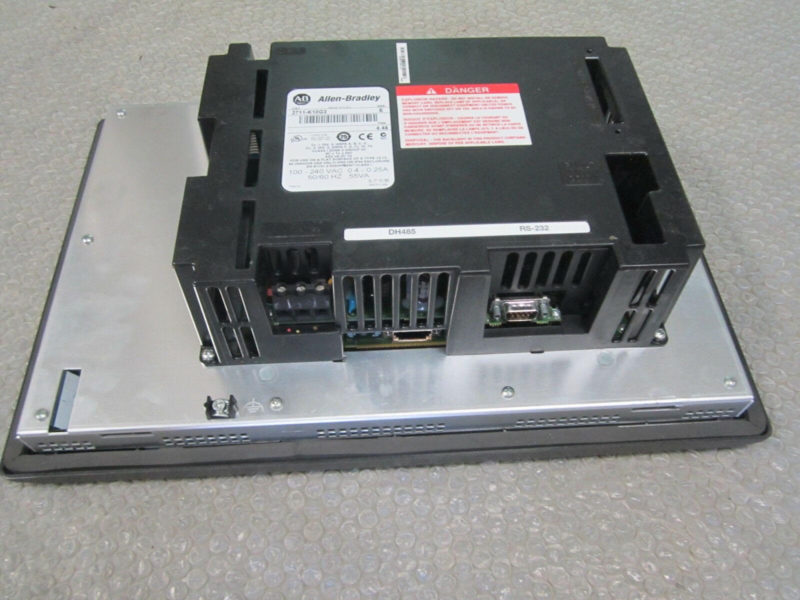 Allen Bradley 2711-K10G3 Panelview 1000 Display Ser E FRN 4 46  100-240AC*Tested*