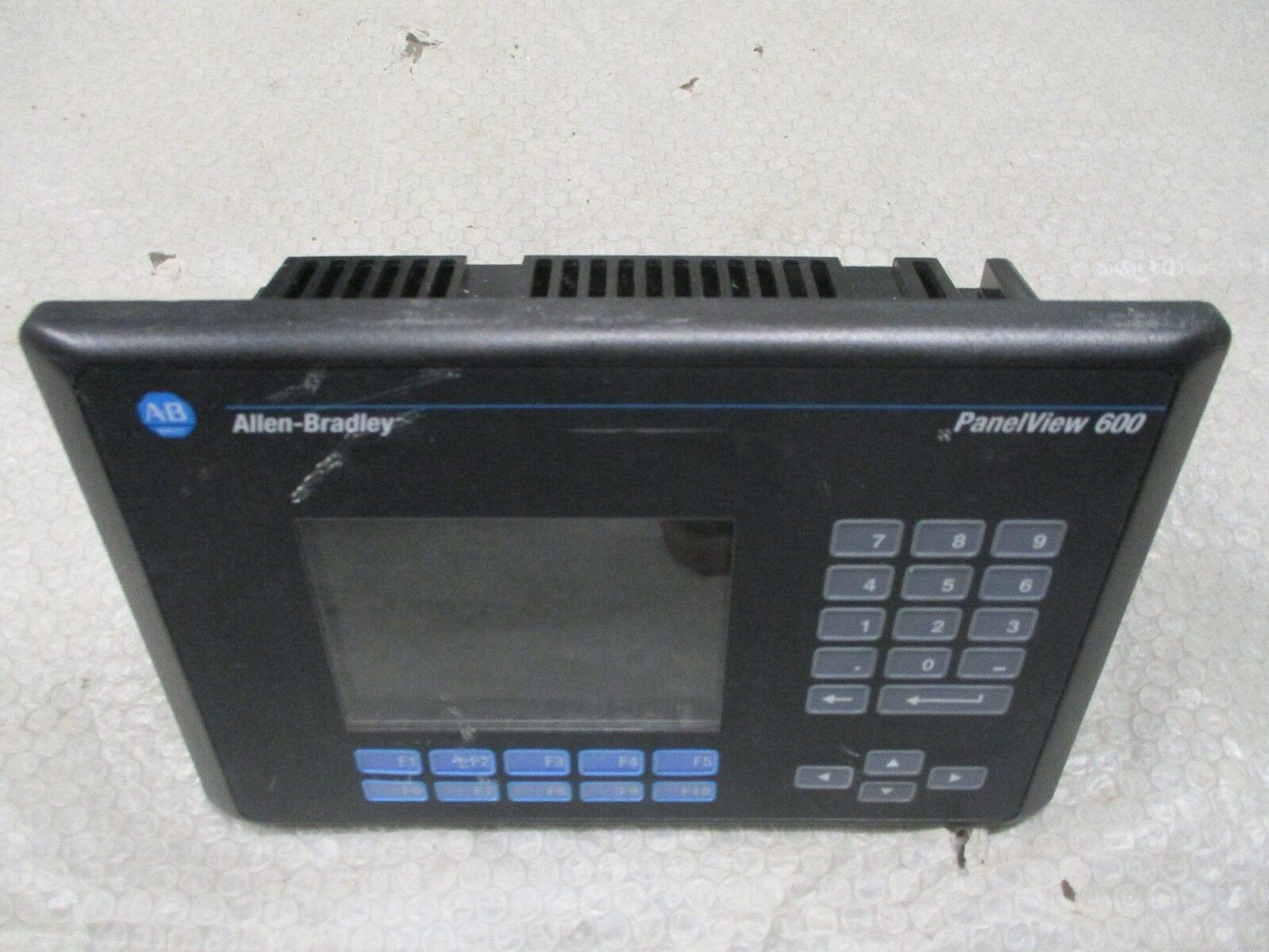 Allen Bradley 2711-K6C1X Panelview 600 Ser C REV D FRN 4 46 100-240VAC  *Tested*