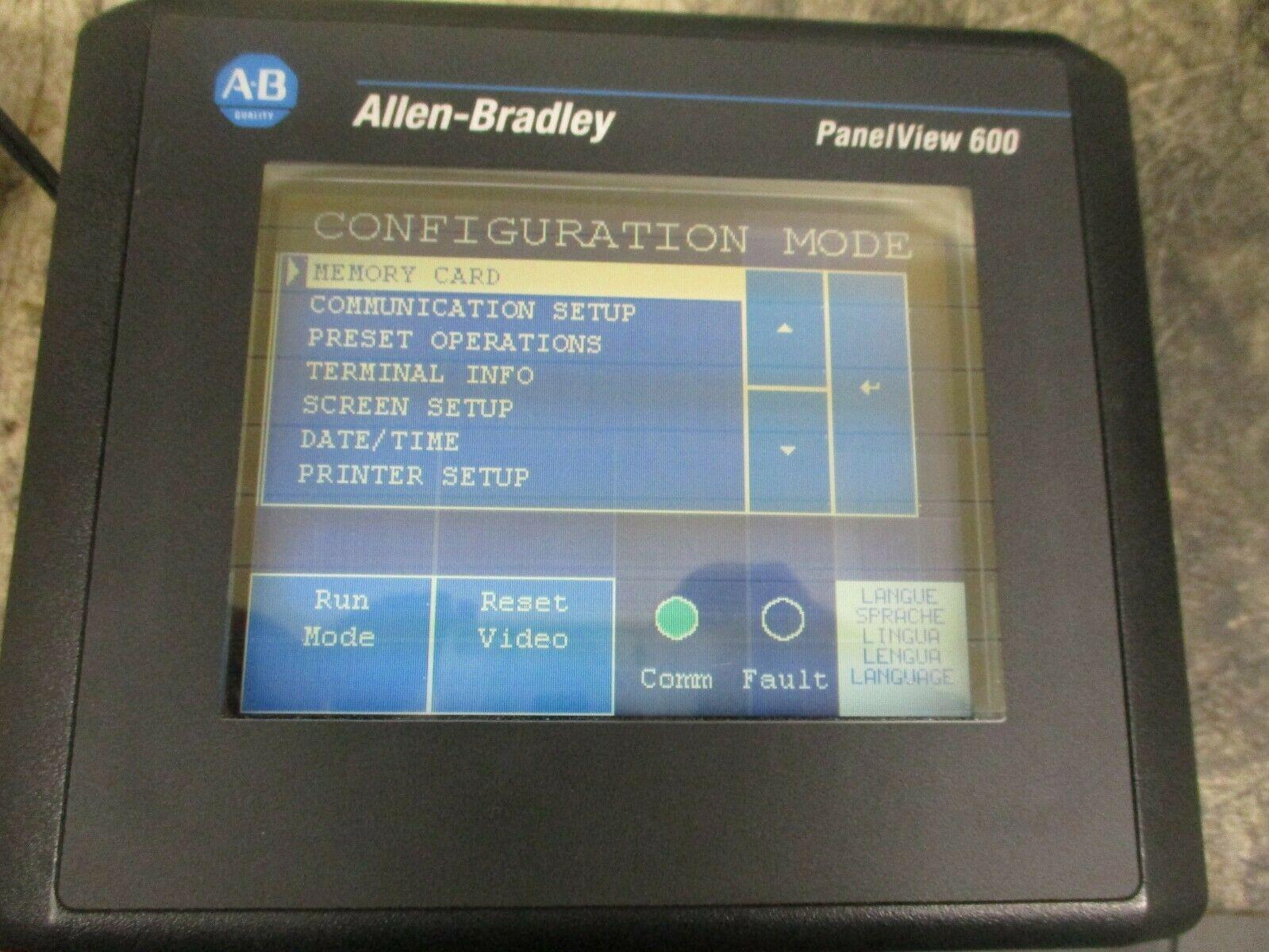 Allen Bradley 2711-T6C8L1 PANELVIEW 600 MODULE Ser A REV C FRN 4 10 24DC  *Parts*
