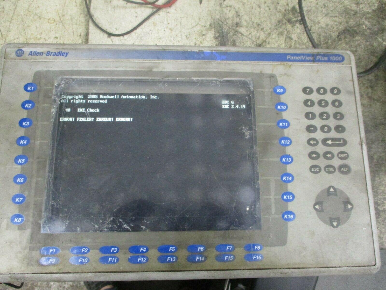 Allen Bradley 2711P-B10C4D2 Panelview Plus 1000 2711P-RP2 2711P-RDB10C  *Parts*