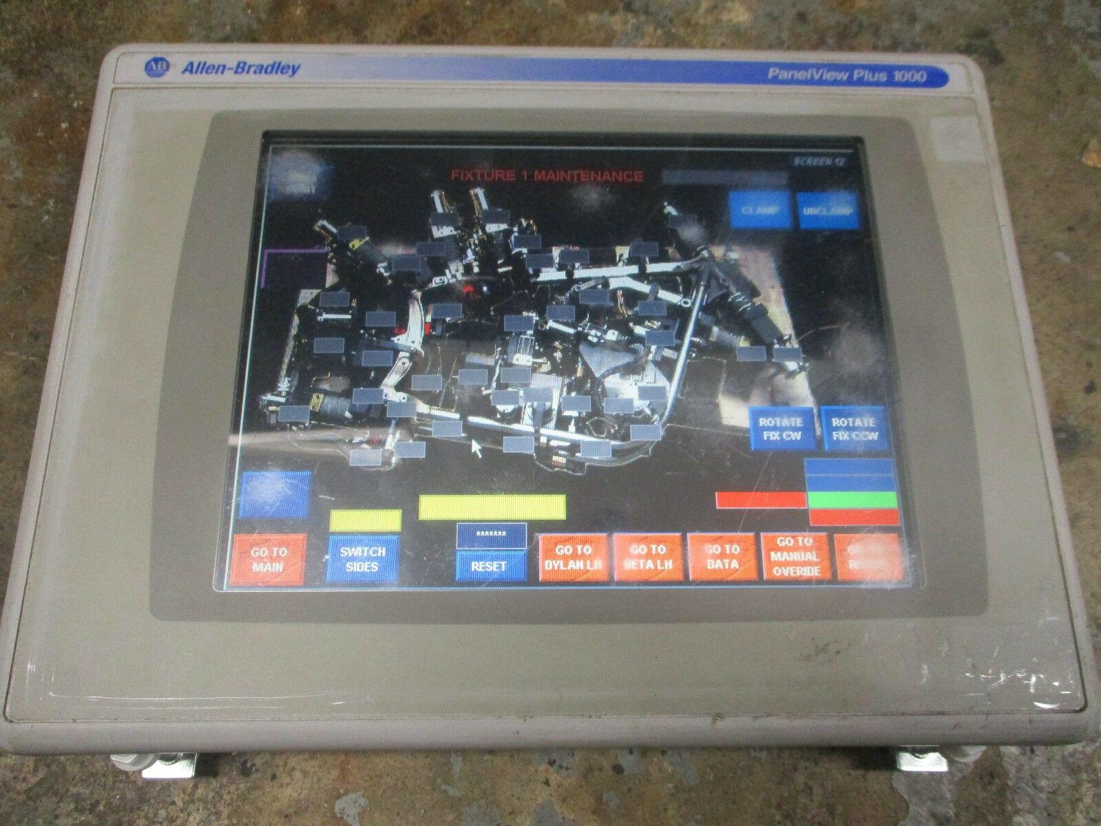 Allen Bradley 2711P-T10C4A2 Panelview Plus 1000 2711P-RP2A 2711P-RDT10C  *Tested*