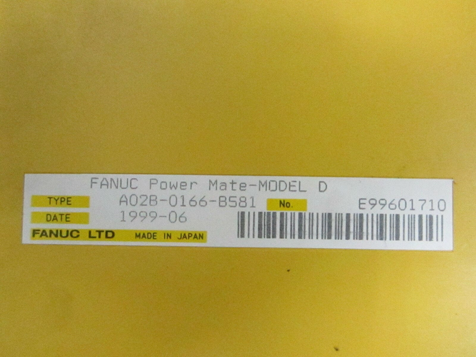 FANUC Power Mate Model D A02b-0166-b501 In1776 for sale online