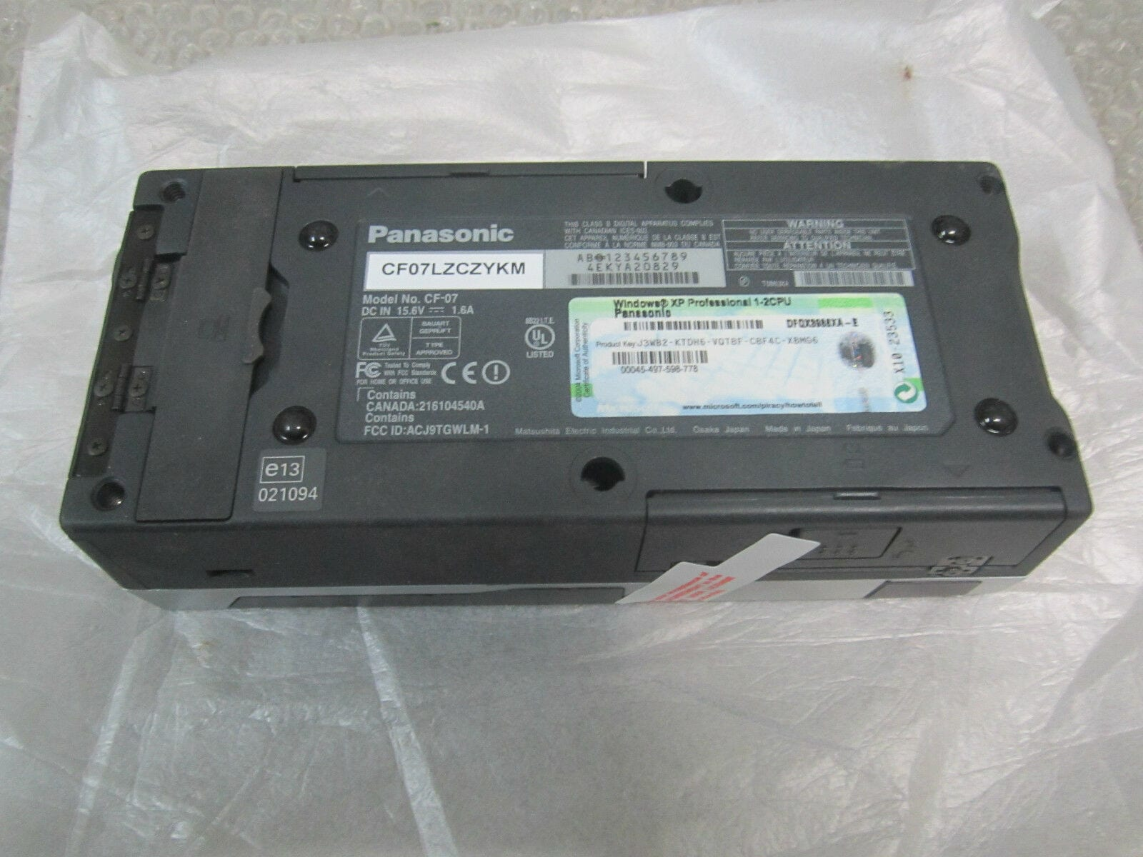 Panasonic CF-07 Touch book Computer Module Windows XP DC In 15.6V *Never Used*