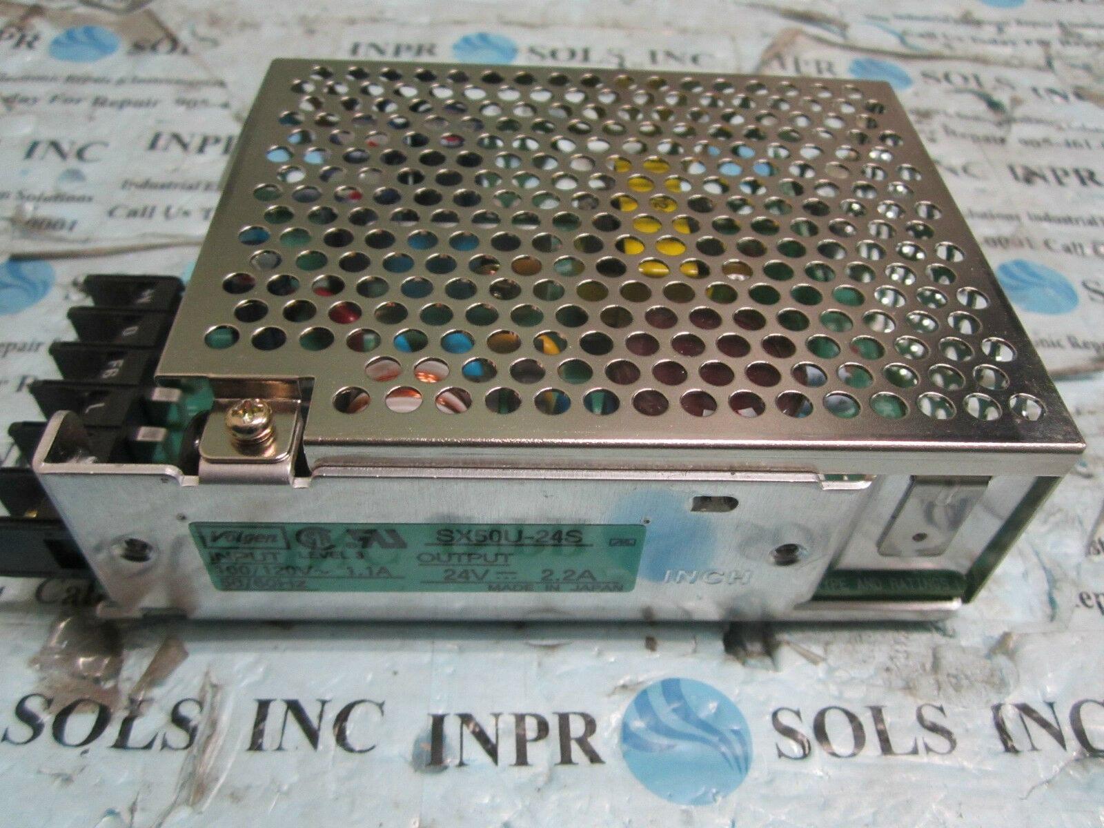 Volgen SX50U-24S DC Power Supply Input 100/120VAC Output 24VDC 2 2A *Tested*