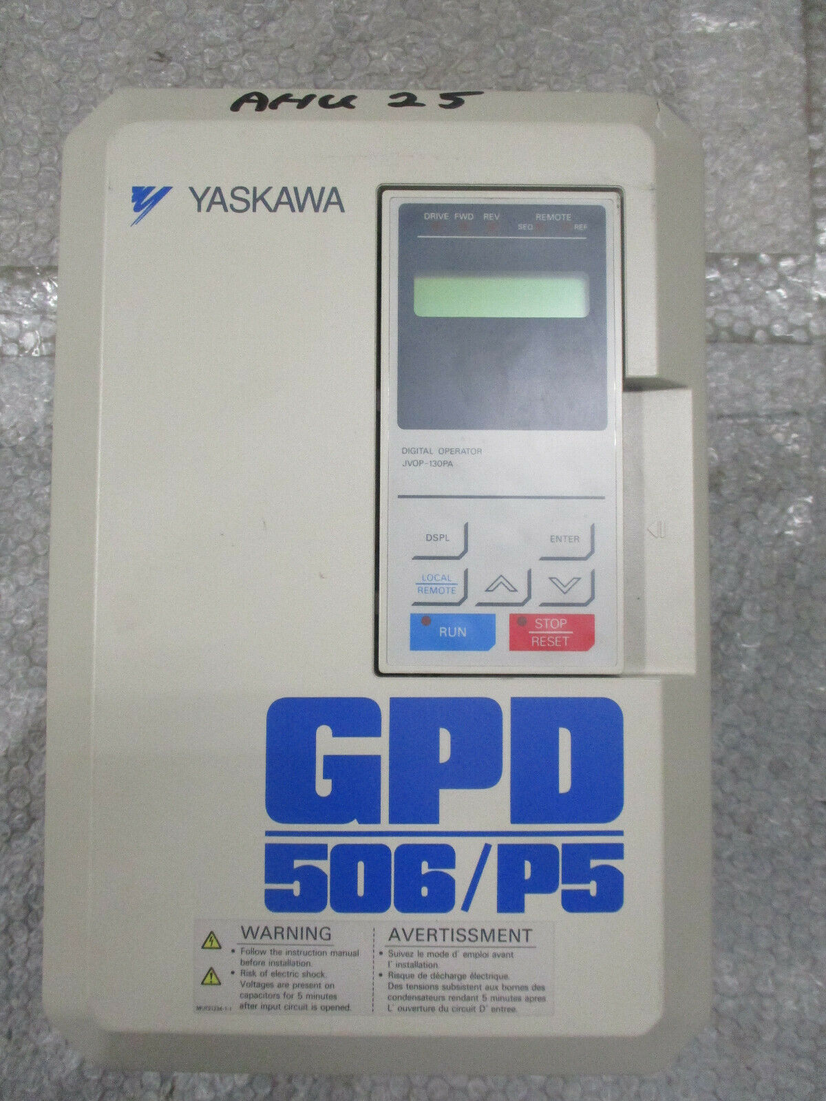 Yaskawa CIMR-P5M55P5 GPD 506/P5 AC Drive 500-600VAC 11A Spec 55P51F *TESTED*
