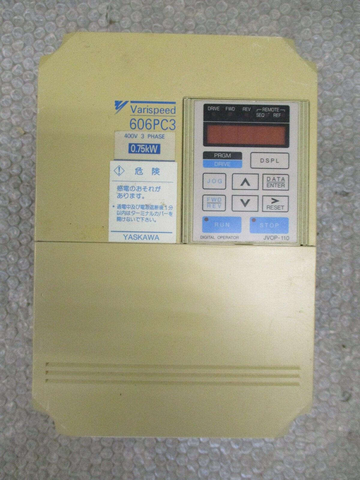 Yaskawa CIMR-PCA40P7 606PC3 Varispeed AC Drive 400VAC 2kVA/ 75kW 2 6A  *Tested*
