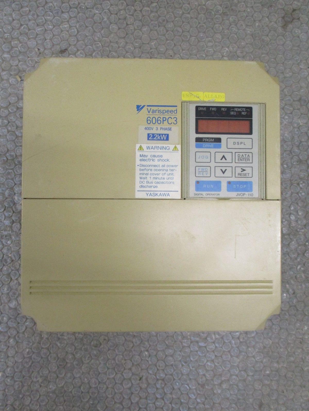 Yaskawa CIMR-PCU43P7 Varispeed 606PC3 AC Drive 380-460V 6 1KVA/5HP 8A  *Tested*