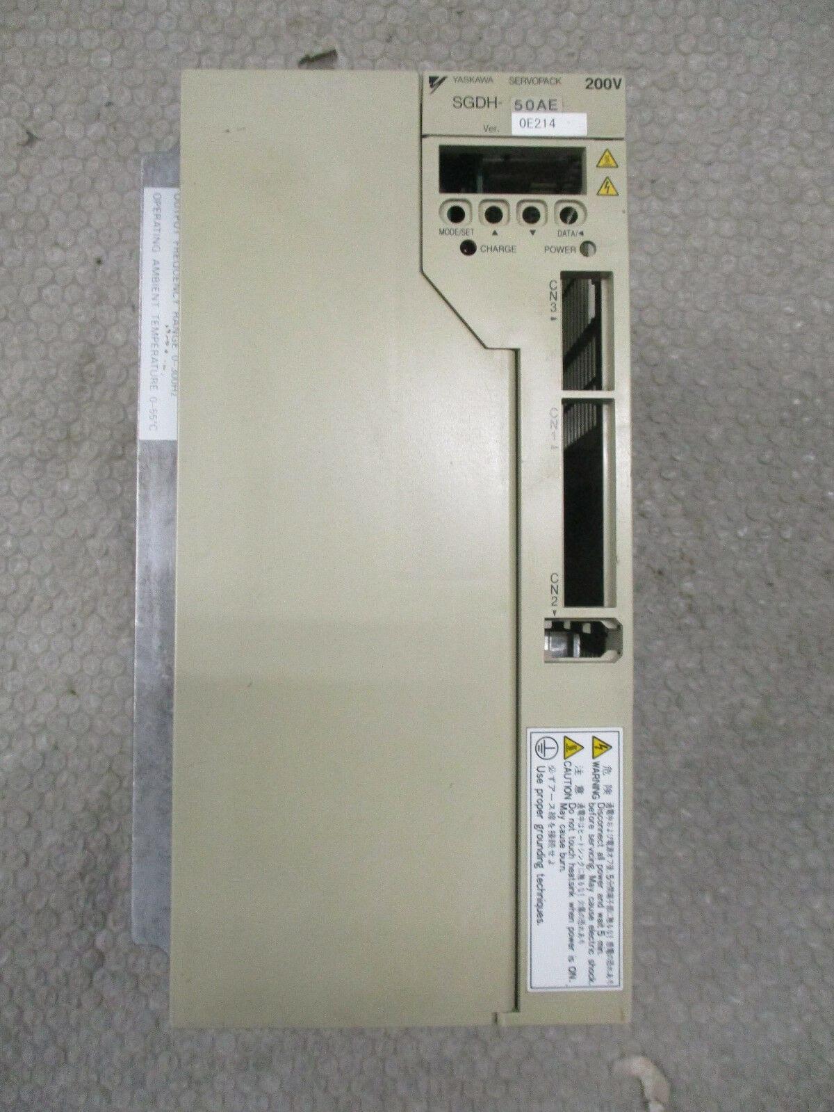 Yaskawa SGDH-50AE Servopack 200-230VAC Yaskawa Servo Drive O/N 5W1558-7-76  5kW